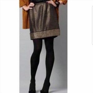 Ann Taylor Loft metallic tweed mini skirt